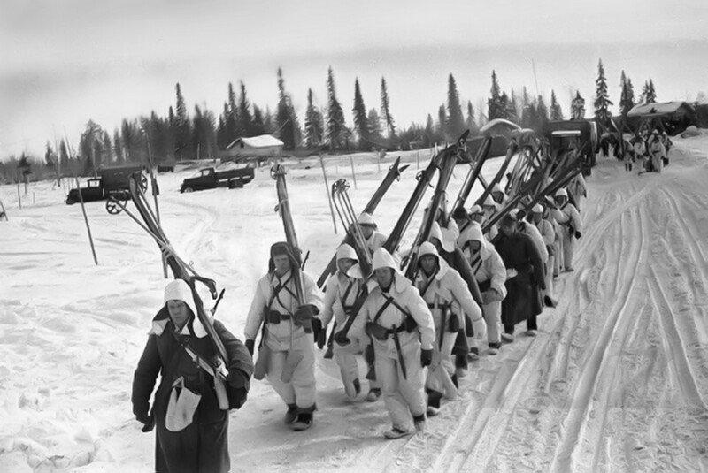 Советско-финская война 1939 1940. Спецотряд советских лыжников